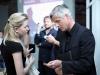 Маргарита Смышляева (Arendator.ru) и архитектор Петер Сахлин на международной конференции Офис.СПб