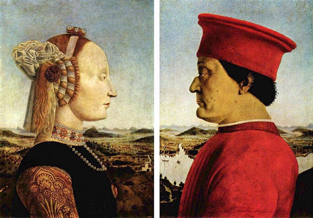 Урбинский диптих. Пьеро делла Франческа.