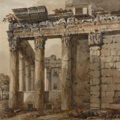 Храм Антонина и Фаустины на Римском Форуме. Середина 1750 гг. Шарль-Луи Клериссо