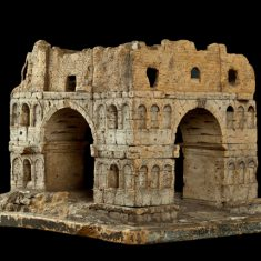 Модель руин арки Януса на «Бычьем форуме» в Риме