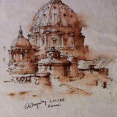 Рим. Купол собора св. Петра 1996 г. Максим Атаянц